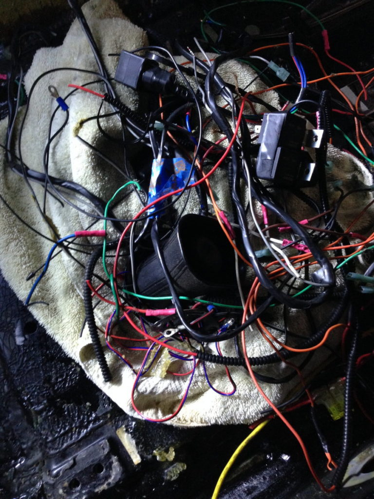 Alarm Wiring Clean Up And Repair Project968 Porsche Diagram Removed Aftermarket